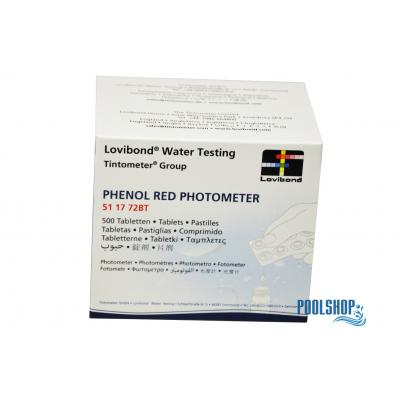 Lovibond Phenol Red Photometer SCUBA I + II PH-WERT - 60 Tabletten (6 Streifen)